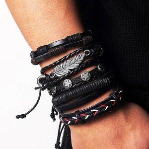 Other - Men's leather Bracelet lot